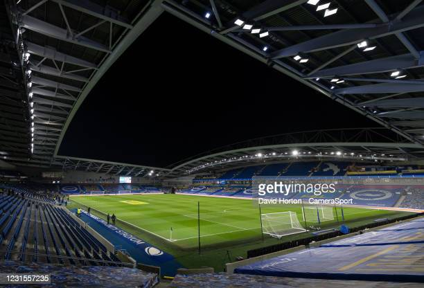 Amex Stadium - Brighton - Ground view during the Premier League match between Brighton & Hove Albion and Leicester City at American Express Community...
