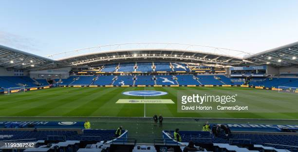 Amex Stadium Ground views during the Premier League match between Brighton Hove Albion and Watford FC at American Express Community Stadium on...