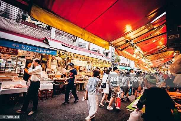 Ameyoko market streets, Tokyo.