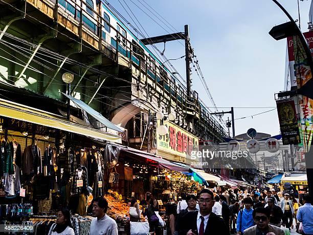 Ameyoko street market Tokyo Japan