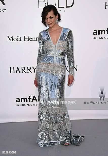 AmfAR ambassador Milla Jovovich arrives at amfAR's 23rd Cinema Against AIDS Gala at Hotel du Cap-Eden-Roc on May 19, 2016 in Cap d'Antibes, France.