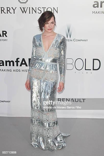 AmfAR Ambassador Milla Jovovich attends amfAR's 23rd Cinema Against AIDS Gala during The 69th Annual Cannes Film Festival on May 19, 2016 in Cap...