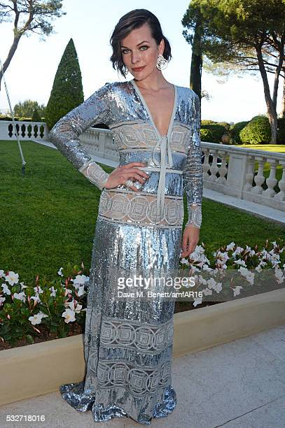 amfAR Ambassador Milla Jovovich attends amfAR's 23rd Cinema Against AIDS Gala at Hotel du CapEdenRoc on May 19 2016 in Cap d'Antibes France