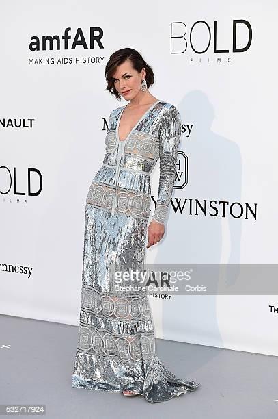 amfAR Ambassador Milla Jovovich attends the amfAR's 23rd Cinema Against AIDS Gala Dinner at the annual 69th Cannes Film Festival at Hotel du...