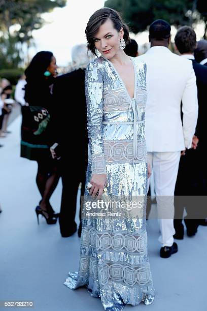 amfAR Ambassador Milla Jovovich attends the amfAR's 23rd Cinema Against AIDS Gala at Hotel du CapEdenRoc on May 19 2016 in Cap d'Antibes France