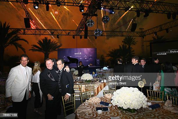 AmfAR CEO Kevin Frost and amfAR chairmain Kenneth Cole attend the amfAR Cinema Against AIDS Dubai dinner held at the Bab Al Shams Hotel during day...