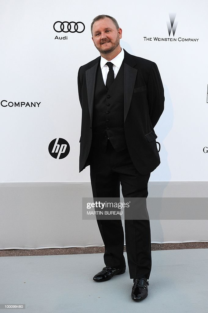 amfAR CEO Kevin Robert Frost arrives at amfAR's Cinema Against Aids 2010 benefit gala on May 20, 2010 in Antibes, southeastern France.