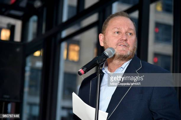 amfAR CEO Kevin Robert Frost attends the amfAR GenCure Solstice 2018 on June 21 2018 in New York City