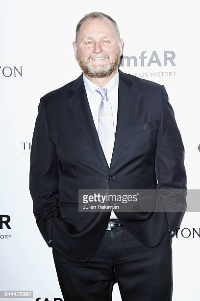 Amfar CEO Kevin Robert Frost attends the Amfar Paris Dinner at The Peninsula Hotel on July 3 2016 in Paris France