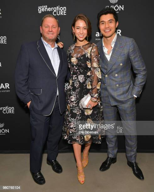 amfAR CEO Kevin Robert Frost Liv Lo and Henry Golding attend the amfAR GenCure Solstice 2018 on June 21 2018 in New York City