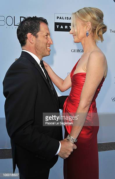 amfAR Chairman Kenneth Cole and actress Joely Richardson arrive at amfAR's Cinema Against AIDS 2010 benefit gala at the Hotel du Cap on May 20 2010...