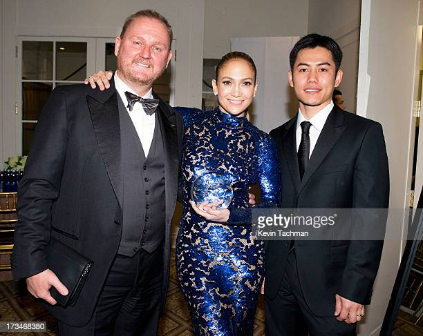 amfAR Chief Executive Officer Kevin Robert Frost Jennifer Lopez and Nikom Wongtee attend the 4th Annual amfAR Inspiration Gala New York at The Plaza...