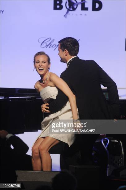 AmfAR Cinema against AIDS Gala and auction during the 62nd Cannes Film Festival in Antibes France on May 21 2009 Picture shows Diane Kruger Joshua...