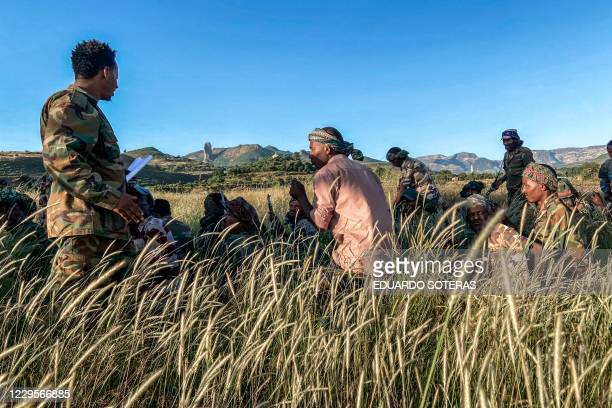 Amhara militia men that combat alongside federal and regional forces against northern region of Tigray receive training in the outskirts of the...