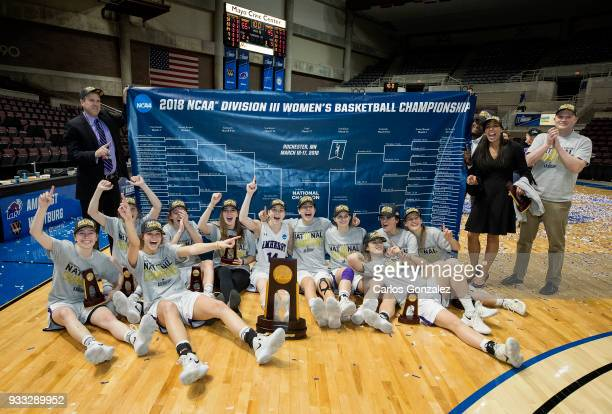 Amherst College beat Bowdoin 6545 to win the Division III Women's Basketball Championship held at the Mayo Civic Center on March 17 2018 in Rochester...