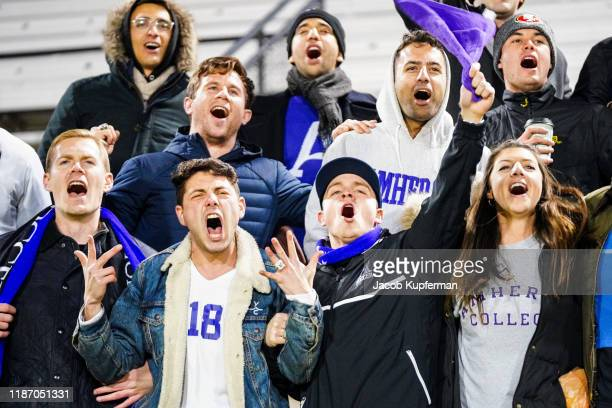 Amherst Mammoths fans during the Division III Men's Soccer Championship held at UNCG Soccer Stadium on December 7 2019 in Greensboro North Carolina...