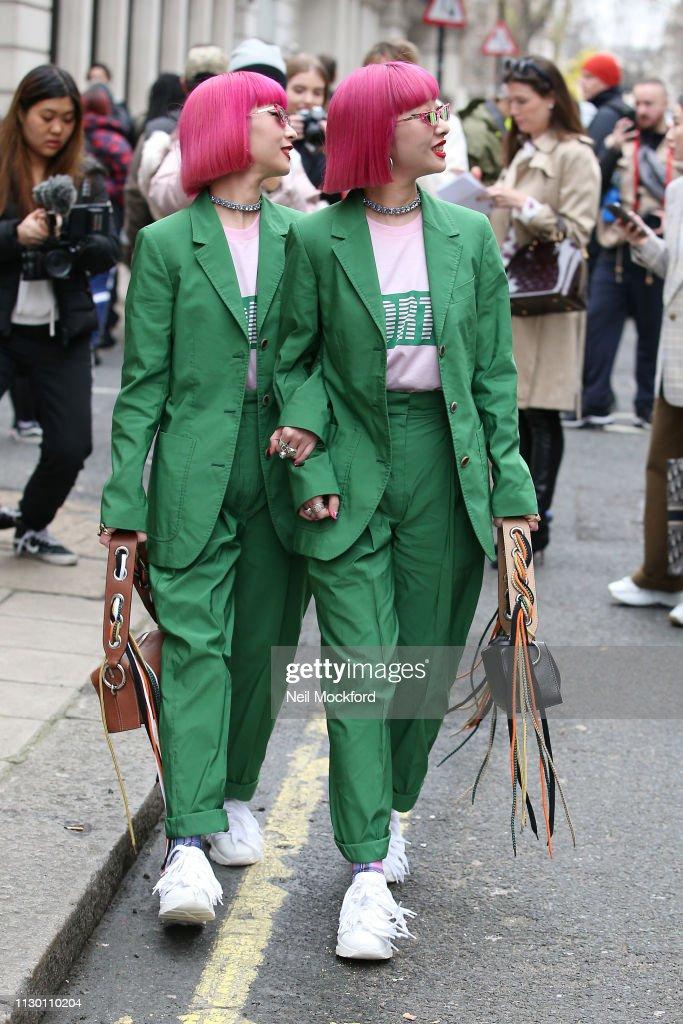Street Style - LFW February 2019 : News Photo