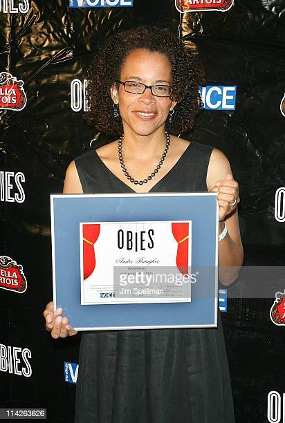 Ami Brabson accepts the Obie for husband Andre Braugher during the 56th annual Village Voice Obie Awards at Webster Hall on May 16 2011 in New York...