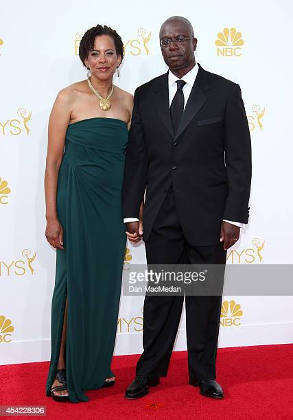 Ami Brabson and Andre Braugher arrive at the 66th Annual Primetime Emmy Awards at Nokia Theatre LA Live on August 25 2014 in Los Angeles California