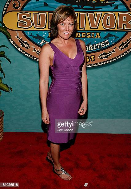 Ami Cusack arrives at the Survivor Micronesia Fans vs Favorites Finale at the Ed Sullivan Theatre on May 11 2008 in New York CIty