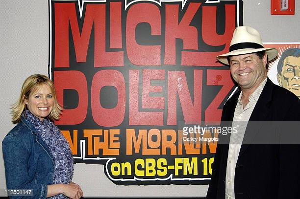 Ami Dolenz and Micky Dolenz during Ami Dolenz Visits Her Father's Radio Show 'Micky Dolenz in the Morning' May 2 2005 at CBS FM Studios and Times...