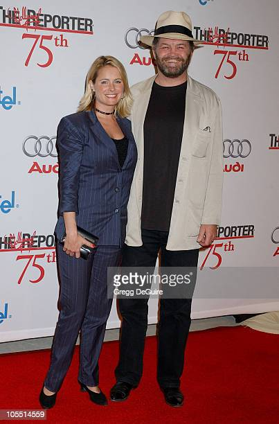 Ami Dolenz and Micky Dolenz during The Hollywood Reporter 75th Anniversary Gala Presented By Audi Arrivals in Los Angeles California United States