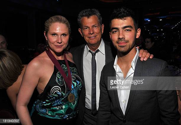 Ami Foster, Honoree David Foster and musician Joe Jonas attend the 59th Annual BMI Pop Awards at the Beverly Wilshire Four Seasons Hotel on May 17,...