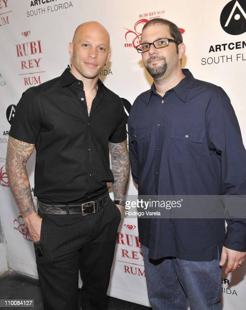 Ami James and Jeremy Chestler attends the 86collective presented by Rubi Rey rum at the Arts Center July 18 2008 in Miami Florida
