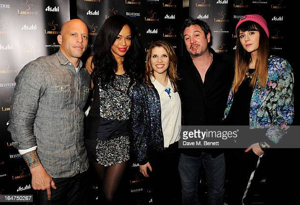 Ami James SarahJane Crawford Pips Taylor Huey Morgan and Lilah Parsons attend the launch of new club Libertine on March 27 2013 in London England