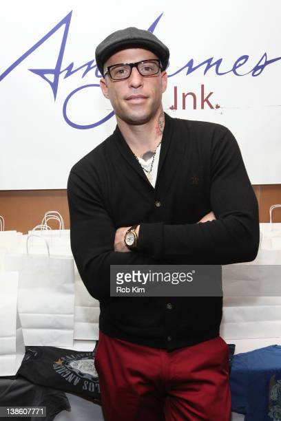 Ami James visits The Ami James Ink Tattoo PopUp Shop at the Empire Hotel on February 9 2012 in New York City