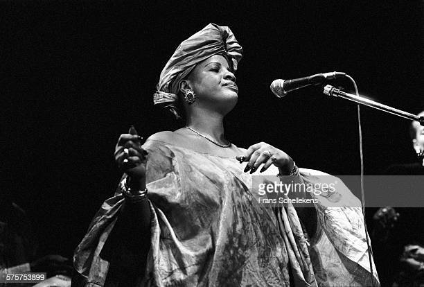 Ami Koita, vocal, performs on March 15th 1991 at the Melkweg in Amsterdam, Netherlands.
