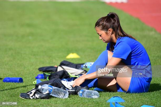 Ami Otaki of Paris FC during a training session on September 1 2017 in Bondoufle France