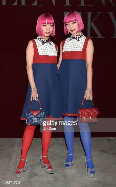 Ami Suzuki and Aya Suzuki attend the photocall for Valentino TKY 2019 Pre-Fall Collection at Terada Warehouse on November 27, 2018 in Tokyo, Japan.