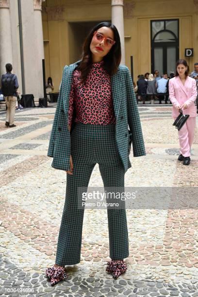 Ami Suzuki and Aya Suzuki attend the Vivetta show during Milan Fashion Week Spring/Summer 2019 on September 20 2018 in Milan Italy