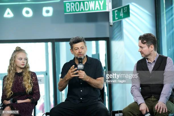 Amiah Miller Andy Serkis and Matt Reeves attend Build to discuss 'War For The Planet Of The Apes' at Build Studio on July 11 2017 in New York City
