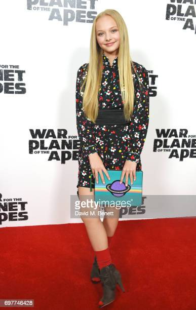 Amiah Miller attends a special screening of 'The War For The Planet Of The Apes' at The Ham Yard Hotel on June 19 2017 in London England