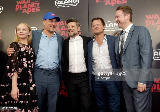 Amiah Miller Woody Harrelson Andy Serkis Steve Zahn and Matt Reeves attend War for the Planet Of The Apes premiere at SVA Theater on July 10 2017 in...