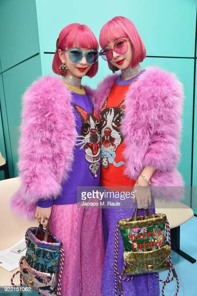 Amiaya attend the Gucci show during Milan Fashion Week Fall/Winter 2018/19 on February 21 2018 in Milan Italy