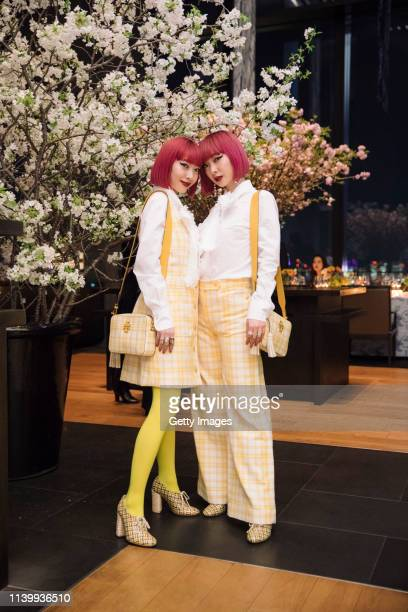 Amiaya attend the Tory Burch Ginza Boutique Opening After Party on April 02 2019 in Tokyo Japan