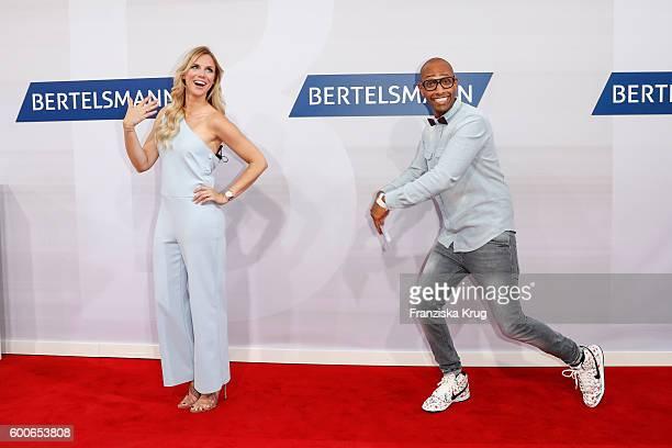 Amiaz Habtu and Sandra Kuhn attend the Bertelsmann Summer Party at Bertelsmann Repraesentanz on September 8 2016 in Berlin Germany