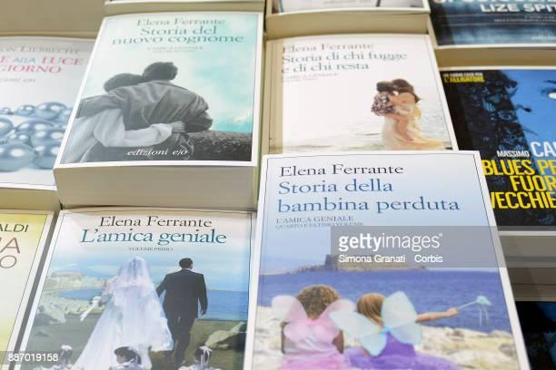 L'amica Geniale the book by Elena Ferrante at Piu Libri Piu Liberi Publishing Fair at the Convention Center La Nuvola on December 6 2017 in Rome Italy