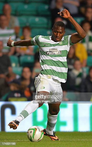 Amido Balde of Celtic during the UEFA Champions League Second Qualifying Round Second Leg match between Celtic and Cliftonville at Celtic Park...