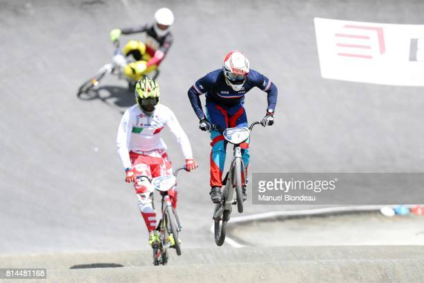 Amidou Mir of France competes during training of the UEC BMX European Championships 2017 on July 14 2017 in Bordeaux France