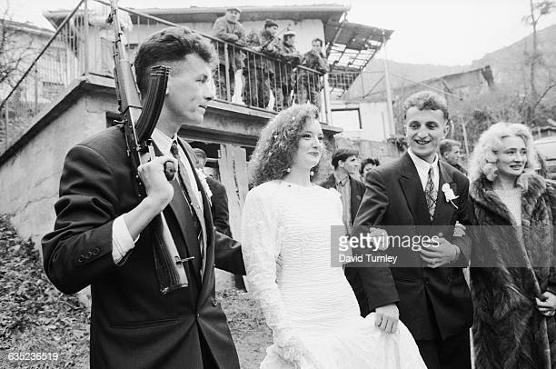 Amidst a civil war a Bosnian Muslim bride and groom celebrate their wedding day as traditionally as possible while they are being protected by an...