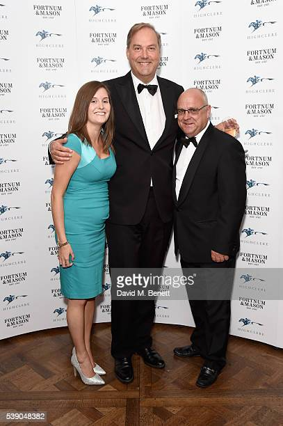Amie Canham Harry Herbert and Richard Fahey attend the Highclere Thoroughbred Racing Royal Ascot preview evening at Fortnum Mason on June 9 2016 in...