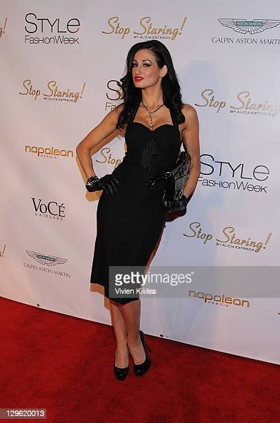 Amie Nicole attends Style Fashion Week LA at Vibiana on October 18 2011 in Los Angeles California