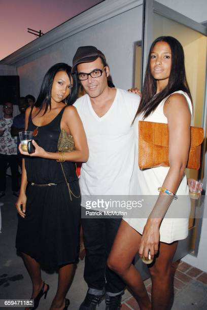 Amie Petersen David LaChapelle and Eishia Brightwell attend OPENING PARTY FOR DAVID LA CHAPELLE'S EXHIBITION ìTHE RAPE OF AFRICAî at DAVID DESANCTIS...