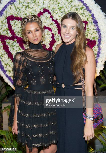 Amie Satchu and Alle Fister at Living Beauty 'The Gift' Photo Exhibit at The Buterbaugh Gallery on October 19 2017 in Los Angeles California