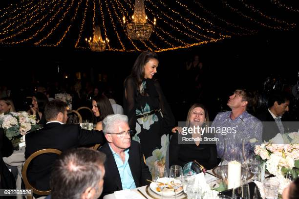 Amie Satchu Lori Gordon and Robert Burnside attend The Foundation for Living Beauty's Under the Stars dinner on June 3 2017 in Beverly Hills...