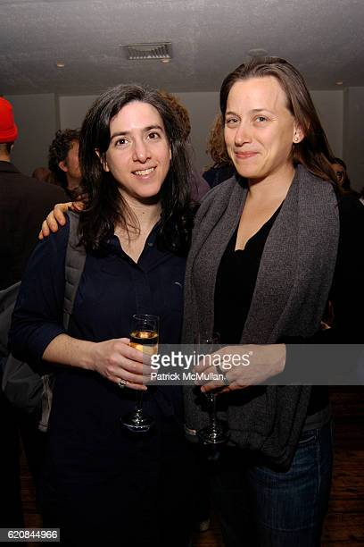 Amie Siegel and Natalia Almada attend Whitney Biennial Artists Party at Trata Estiatoria on March 8 2008 in New York City
